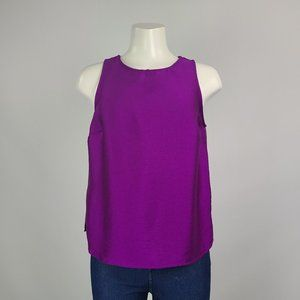 Vince Camuto Purple Sleeveless Top Size S